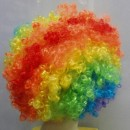 Toptan Palyaço Renkli Peruk Saç